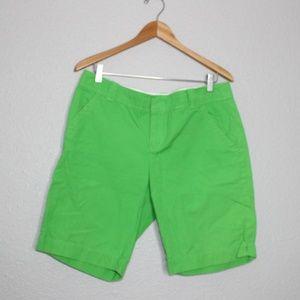 Lily Pulitzer Lime Green Bermuda Shorts sz 12